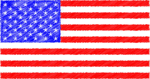Grunge USA Flag. The `Stars and Stripes` flag with a grunge style Royalty Free Stock Photo