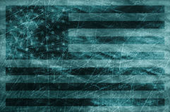 Grunge usa flag. Usa flag grunge style with scratches Royalty Free Stock Images