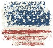 Grunge USA flag. Vintage American flag. Vector. Vector grunge texture flag of United States America Royalty Free Stock Photos