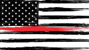 Free Grunge USA Flag With A Thin Red Line Stock Photos - 148811823
