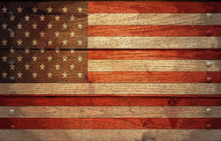Grunge USA flag Stock Images