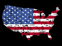 Grunge USA map flag illustration Stock Photo