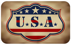 Grunge USA Sign Stock Image