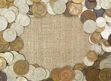 Grunge USSR coins frame Royalty Free Stock Image