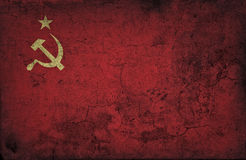 Grunge USSR flag Royalty Free Stock Image