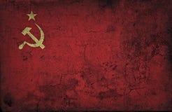 Grunge USSR flag. USSR national flag. Grunge Background Royalty Free Stock Image