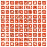100 grunge ustalona pomarańcze Zdjęcia Royalty Free