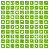 100 grunge ustalona zieleń Zdjęcia Royalty Free