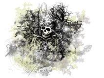 Grunge Víspera de Todos los Santos stock de ilustración