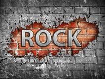 Grunge vaggar musikaffischen Royaltyfria Bilder