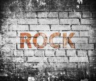 Grunge vaggar musikaffischen Royaltyfria Foton