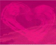 Grunge valentine background Stock Image
