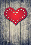 Grunge valentine background with red heart Royalty Free Stock Images