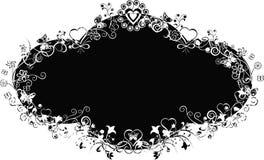 Grunge valentine background, vector. Illustration royalty free illustration