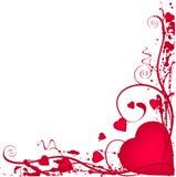Grunge valentine border Royalty Free Stock Images