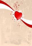 Grunge Valentine card Stock Image