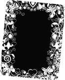 Grunge valentine frame, vector. Illustration vector illustration