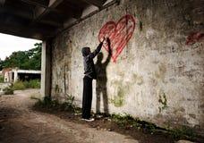 Grunge valentine girl Stock Images