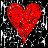 Grunge Valentine Heart Royalty Free Stock Images