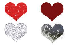 Grunge Valentine Hearts Stock Images