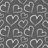 Grunge Valentine hearts. Seamless vector pattern. Royalty Free Stock Image