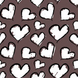 Grunge Valentine hearts. Seamless vector pattern. Royalty Free Stock Images