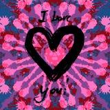 Grunge valentine karta Fotografia Stock