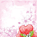 Grunge Valentine's Day card Royalty Free Stock Images