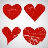 Grunge Valentine's Day hearts Stock Image