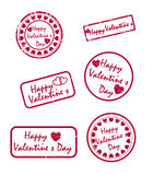 Grunge Valentine's day stamps Royalty Free Stock Images