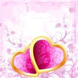 Grunge Valentine's Hearts Royalty Free Stock Image