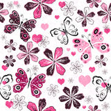 Grunge valentine seamless pattern Stock Photos