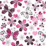 Grunge valentine seamless pattern Stock Photos
