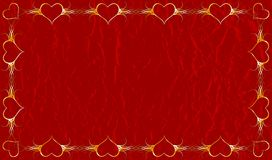 Grunge valentines background, vector Stock Photo