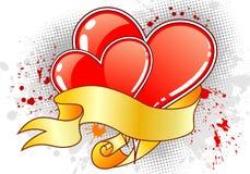 Grunge Valentines Day background Royalty Free Stock Photos