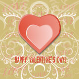 Grunge valentines day background with hearts Royalty Free Stock Photo