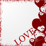 Grunge valentines day background with hearts Royalty Free Stock Image
