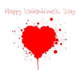 Grunge Valentines day card Stock Photo