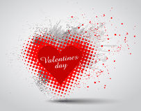 Grunge Valentines Day hart background Stock Images