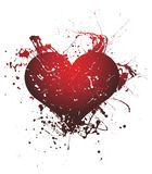 Grunge valentines heart Royalty Free Stock Image