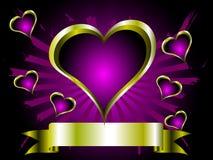 A grunge valentines illustration Stock Photos