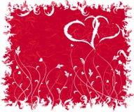 Grunge Valentinsgrüße Hintergrund, Vektor lizenzfreie abbildung