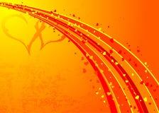 Grunge Valentinsgrüße Hintergrund, Vektor vektor abbildung