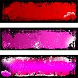 Grunge Valentinsgrußhintergründe vektor abbildung