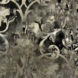 Grunge van de kunst bloemenpatroon als achtergrond Stock Fotografie