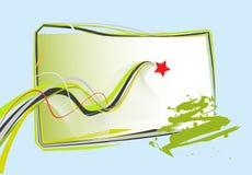Grunge vector abstract design Stock Photos