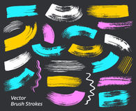 Grunge vector art brush strokes collection Stock Photo