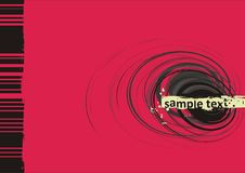 Grunge vector background. Black spiral Royalty Free Stock Photo