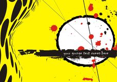 Grunge vector background. Yellow and red Stock Photos