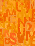 Grunge vector background in warm orange colors Royalty Free Stock Image